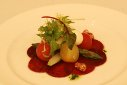 Carpaccio of Beetroot with Buffalo Cheese