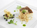 Olive Oil Poached Sea Bream with Enoki Mushrooms