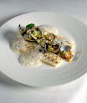 Chef Henk Savelberg: Grilled Fillet of Dover Sole with Clams & Compote of Evennes Onions