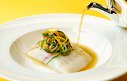 Chef Henk Savelberg: North Sea Turbot with vegetable Nage, julienne of Vegetables