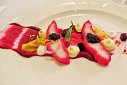 Ryan O'Flynn's Sturgeon with textures of Beets and Caviar 2015