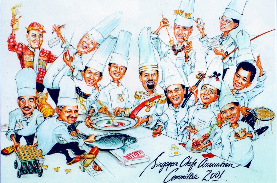 Singapore Chefs' Association Cartoon