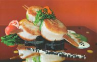 Kaffir Lime Seared Scallops and Sweet Ginger Wasabi Fusion