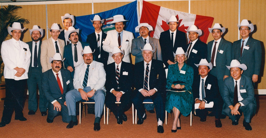 Alberta Beef Promo Dinner for Hong Kong Chefs 1988