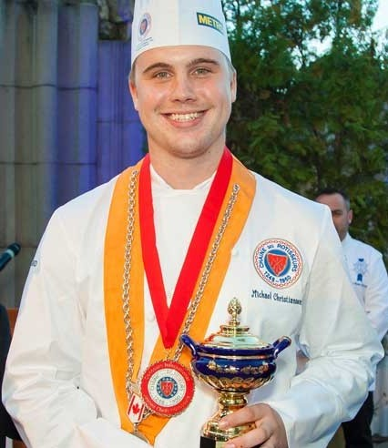 Michael Christiansen International jeunes Chefs Rotisseurs Champion