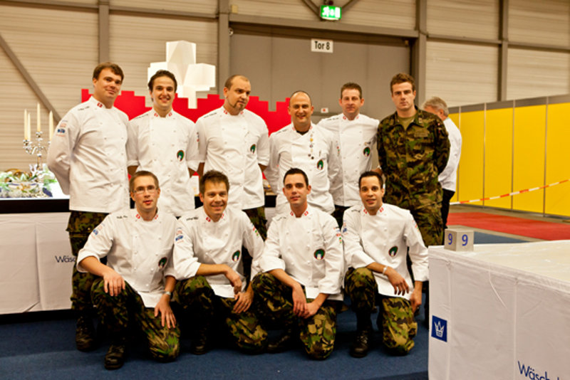 Switzerland National Military Team. Olympic Champions